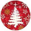 Plato decorado White Tree 20,5 cm Paquete 8 unidades Gabbiano
