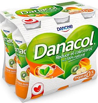 Danacol Danone Para beber sabor tropical 6 unidades