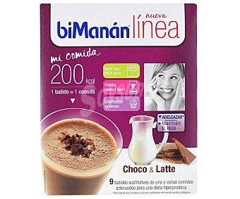 Bimanan Batido choco&latte 9 Unidades x 30 Gramos