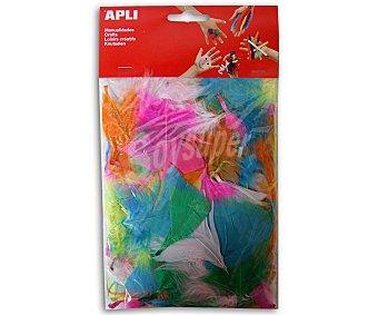 APLI Bolsa de Plumas de Colores, 14 Gramos 24 Unidades