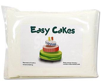 EASY CAKES Pasta de azúcar de cobertura y modelare de color blanco 900 gramos