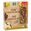 Barrita de cereales, chocolate y platano Caja de 6 unidades (150 g) DIA
