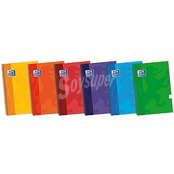 Oxford Cuaderno con espiral y tapas extraduras Fº 80 hojas 4x4 en colores surtidos 90 g