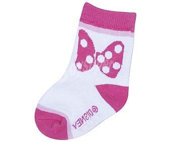 Disney Lote de 2 pares de calcetines de bebé Minnie Mouse, color rosa, talla 24