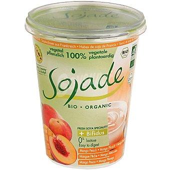 SOJADE Postre de soja + bífidus melocotón mango ecológico envase 400 g Envase 400 g
