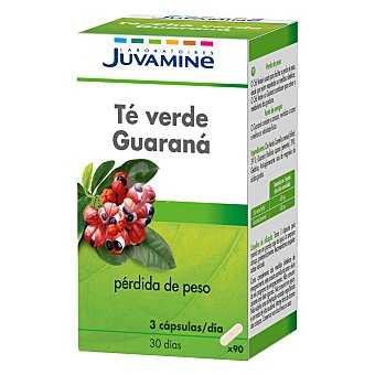 Juvamine Té guaraná adelgazante Caja 90 cápsulas