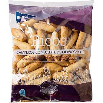 Hipercor Picos camperos de pan con aceite de oliva y ajo bolsa 250 g Bolsa 250 g