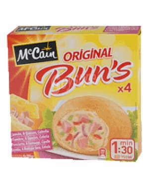 Mc Cain Buns 4 quesos y jamón 400 g