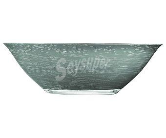 LUMINARC Ensaladera modelo Stonemania de 27 centímetros, fabricada en vidrio templado de color gris y con un moderno diseño de líneas en espiral 1 Unidad