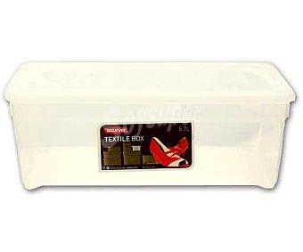 CURVER Textil Caja con tapa, especial para guardar zapatos, Textil, , color blanco translúcido curver 5,7 litros