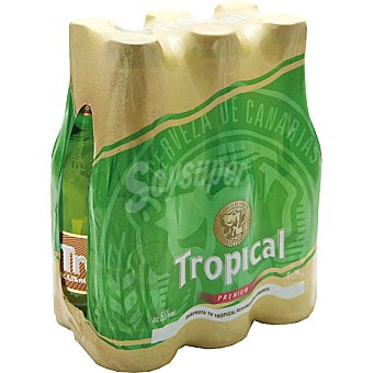 Tropical Cerveza rubia nacional 6 botellas de 25 cl