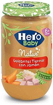 Hero Baby Tarrito guisantes tiernos con jamón desde 6 meses  envase 235 g