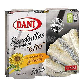 Dani Sardinillas en aceite de girasol Pack 2x65 g