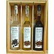 Licor orujo de Galicia + licor de café + licor de hierbas Estuche 3 botellas 70 cl Abadía da Cova