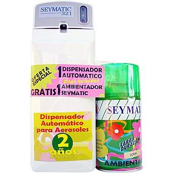 SEYMATIC Ambientador Royal Ambree recambio + dispensador automático con pilas incluidas