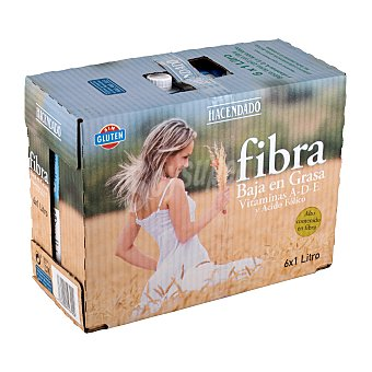 Hacendado Preparado lacteo fibra semidesnatada Brick pack 6 x 1 l - 6 l