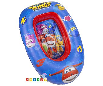 Super wings Barca hinchable infantil color azul, diseño WINGS.