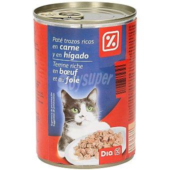 DIA Alimento para gatos paté trozos carne e higado lata 400 gr Lata 400 gr