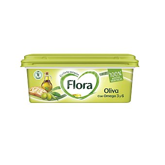 Flora Margarina de oliva tarrina 250 g
