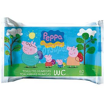 PEPPA PIG Toallitas humedas para el WC Envase 60 unidades
