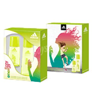 Adidas Estuche Colonia Woman Fizzy Energy spray 75ml. + Colonia 30 ml. 1 ud
