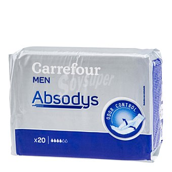Carrefour Proteccion masculina normal Absodys 20 ud