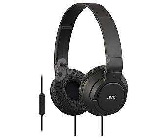 JVC HA-SR185-B-E Auricular cerrado tipo casco con micrófono incorporado, color negro