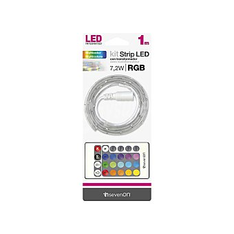 Tira Kit LED 1m Colores rgb/mango y Transform. Recortable y Enlazable 7hSevenOn BL.1 1 ud