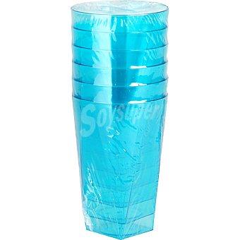 NV CORPORACION Vaso color turquesa paquete 6 unidades 30 cl