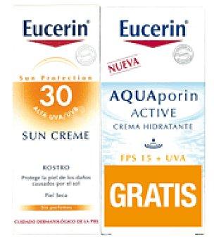 Eucerin Pack Crema Solar SPF30 + Regalo Crema Aquaporin Facial 50ml 50 ml