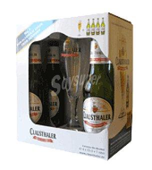 Clausthaler Clausthaler + copa pack de 4x33 cl