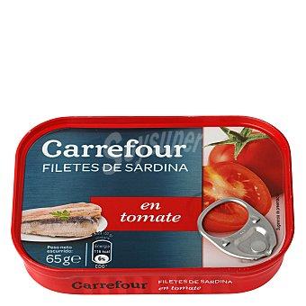 Carrefour Filetes de sardina en tomate 65 g