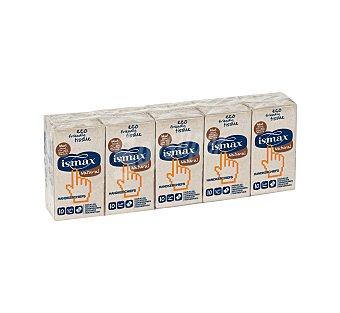 Ismax Pañuelos de bolsillo ecológicos 3 capas Paquete 10 unidades