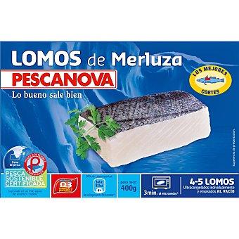 PESCANOVA Lomos de merluza 4-5 piezas  estuche 400 g neto escurrido
