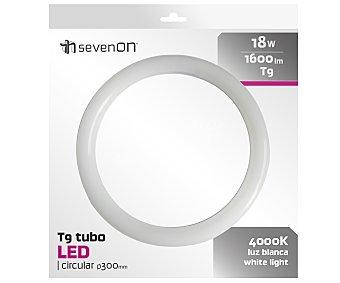 SEVENON Tubo led circular de 18W, con casquillo T9 y luz blanca sevenon