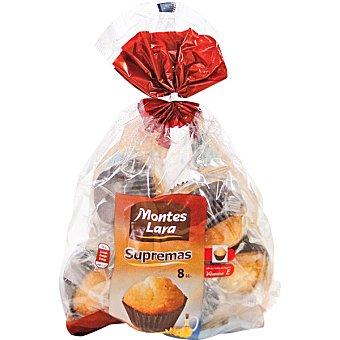 MONTES LARA INPANASA Magdalenas supremas 8 unidades (paquete 480 g)