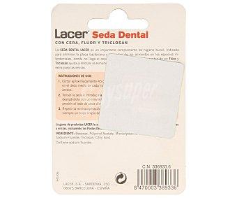 Lacer Seda dental con cera, flúor y triclosán 50 metros