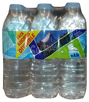 LOS ALPES Agua potable preparada Pack 6 x 500 cc - 3 l