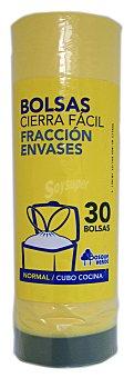 Bosque Verde Bolsa basura envases cierre fácil (amarilla) 30 bolsas