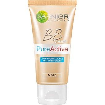 GARNIER SKIN NATURALS BB Cream Pure Active Hidratante todo en uno anti-imperfecciones con toque de color medio tubo 50 ml Tubo 50 ml